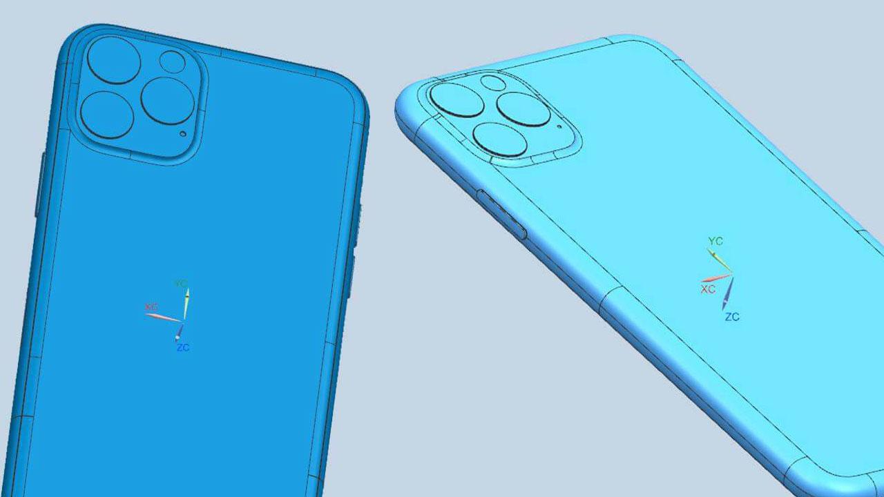 2019 三款新iPhone CAD 設計圖外洩,確認採用方形鏡頭框設計