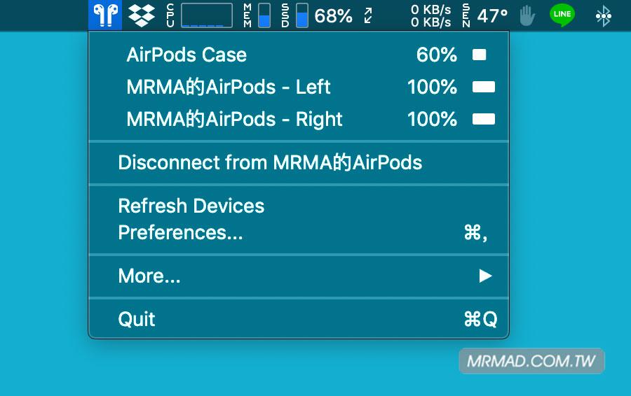 4招用 MacOS 查 AirPods 電量技巧:也可實現低電量提醒、自動彈窗