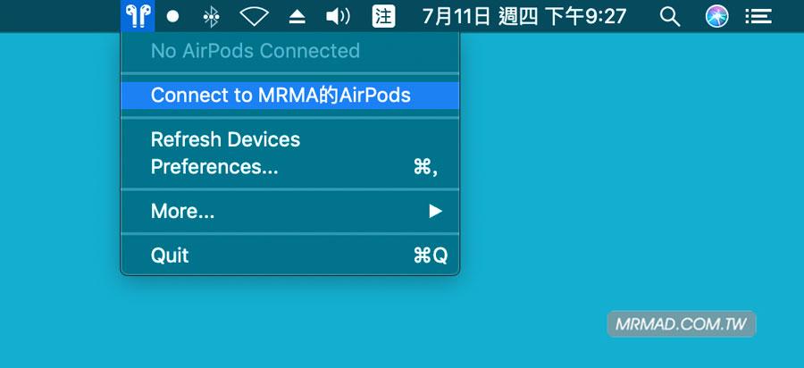 透過 Mac 查 AirPods 電量技巧5