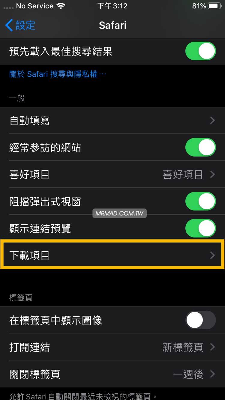 自訂 iOS 和 iPadOS 的 Safari 下載管理器儲存位置2