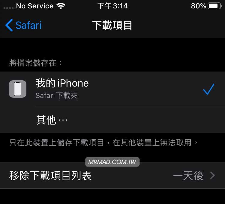 自訂 iOS 和 iPadOS 的 Safari 下載管理器儲存位置7