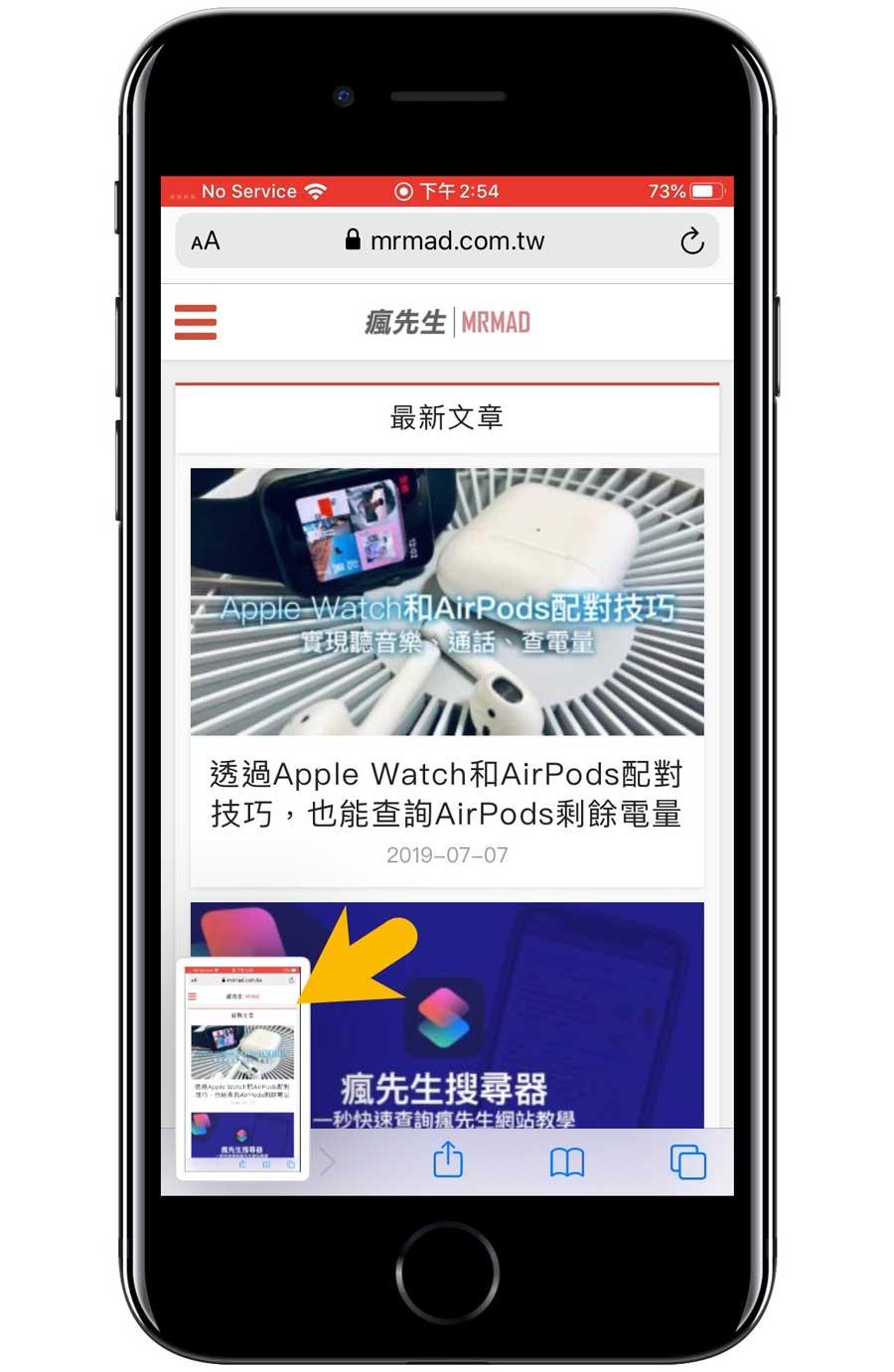 iOS 13 內建 Safari 長截圖教學1