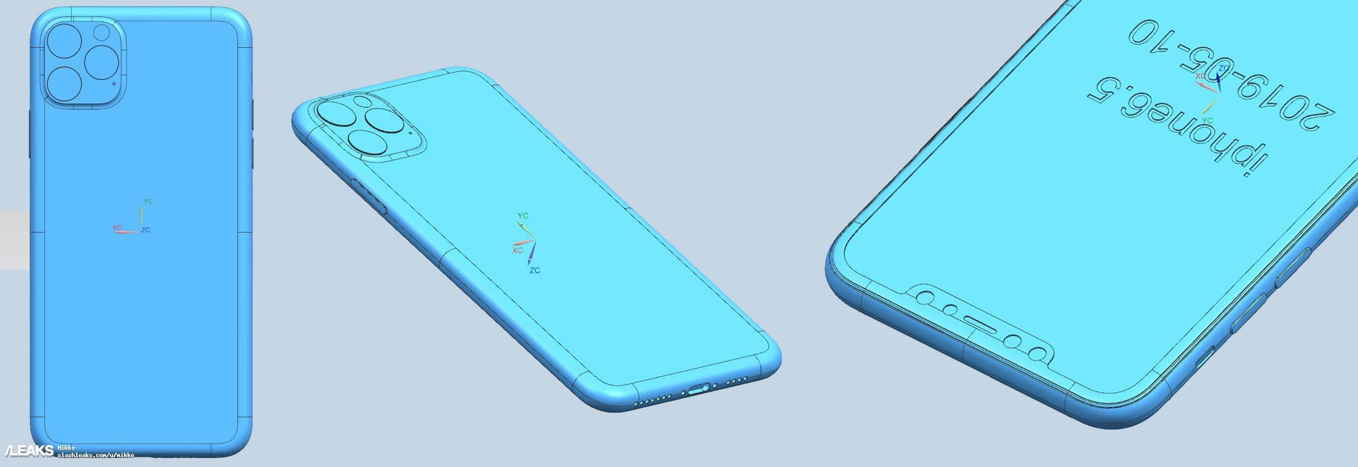 2019 三款新iPhone CAD 設計圖2