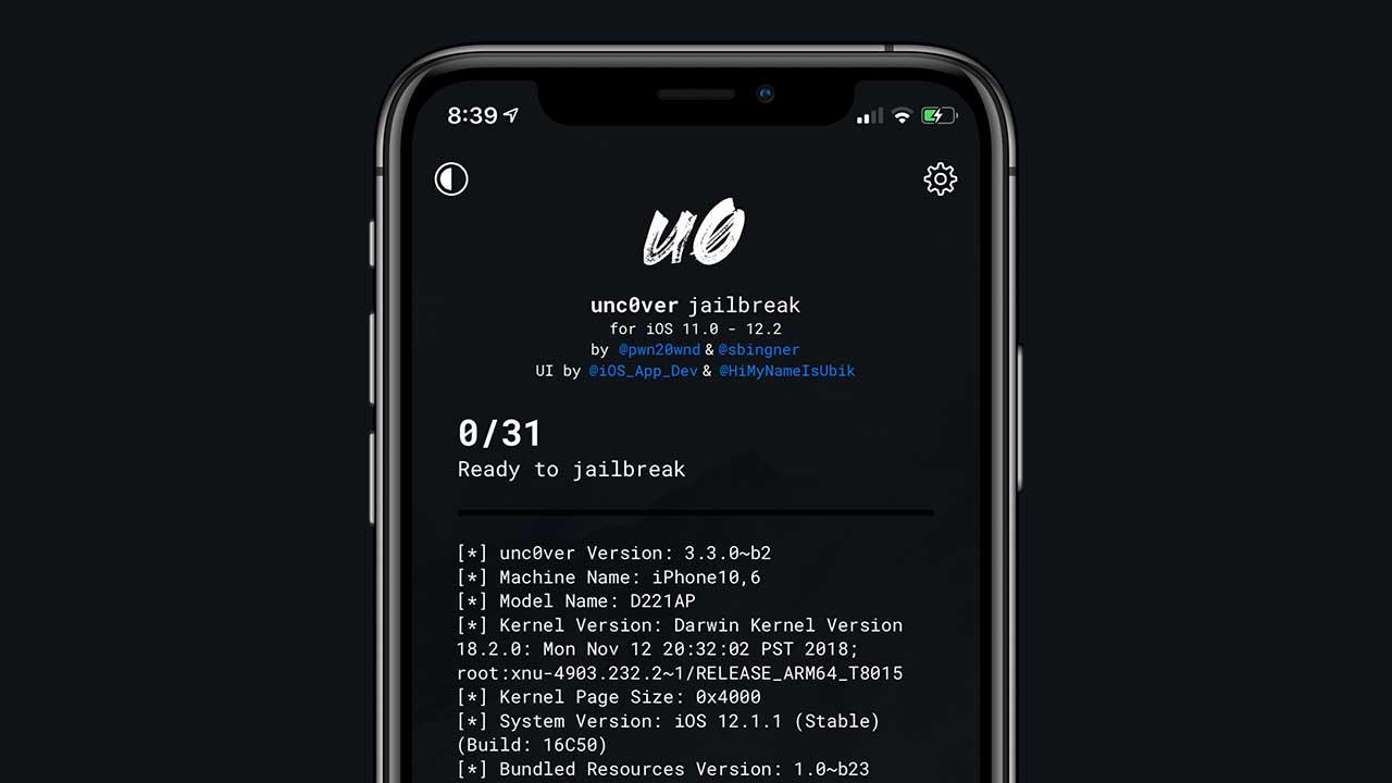 iOS 12.1.3 ~ 12.2越獄工具已經可支援unc0ver,A12 設備需等Chimera