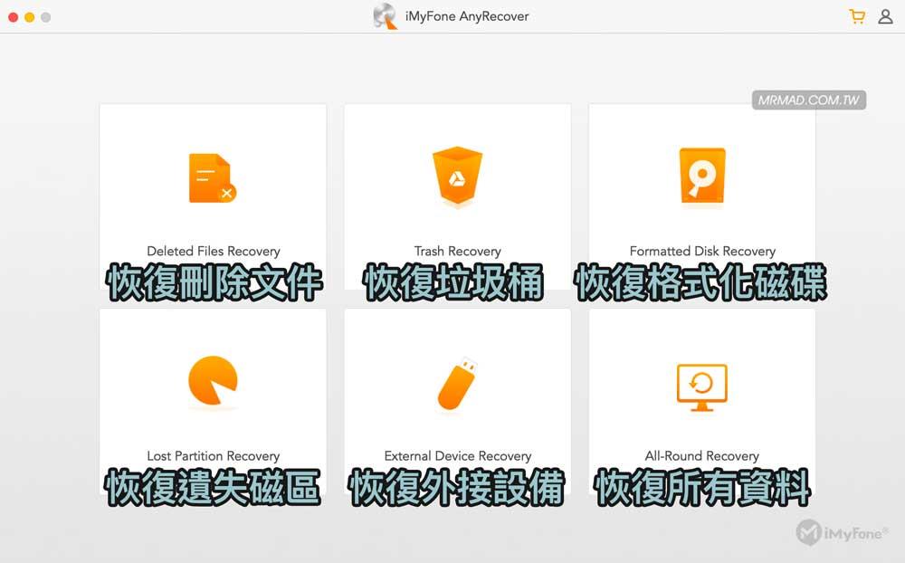 iMyFone AnyRecover 多功能恢復勿刪檔案