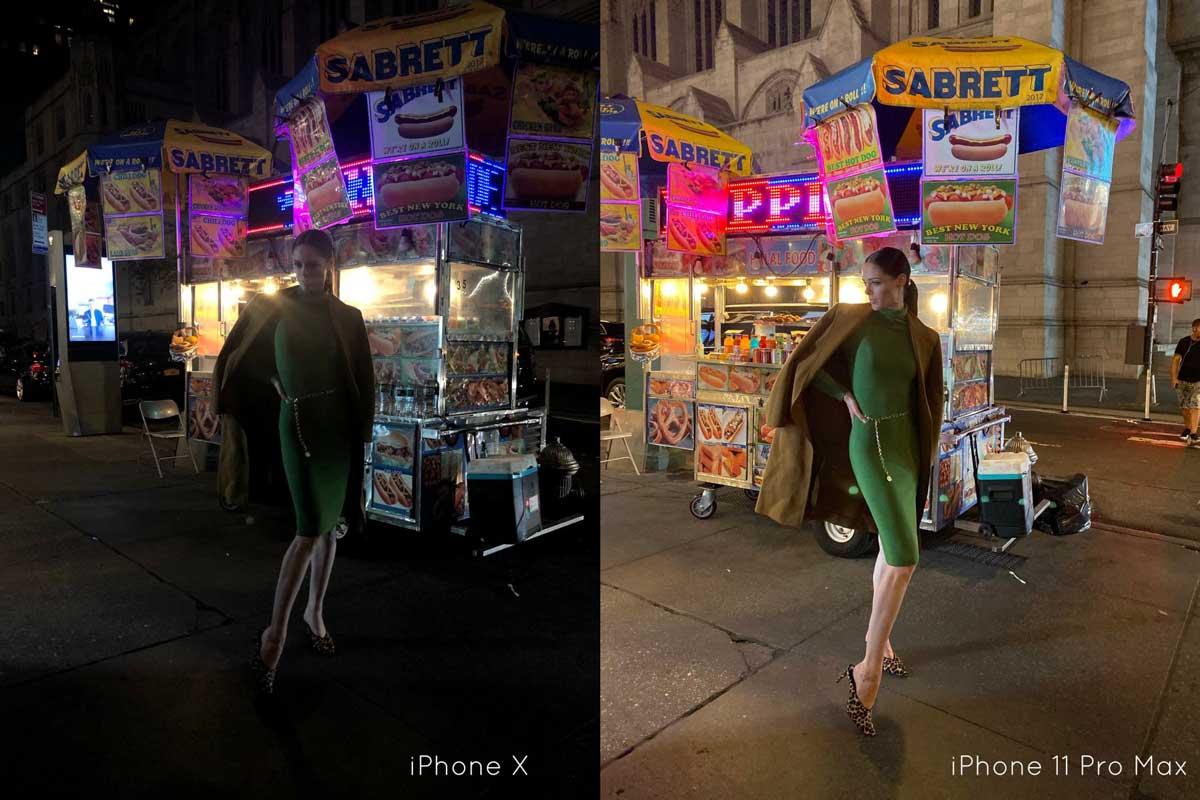 Coco Rocha用iphone 11 pro夜拍模式