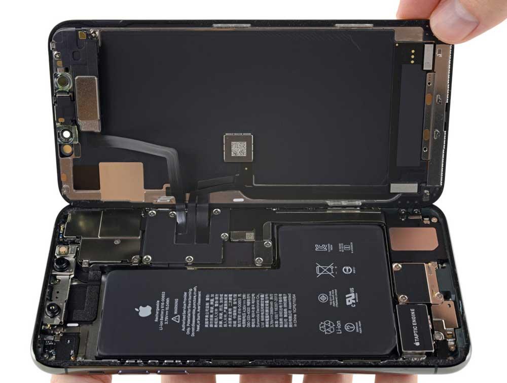 iPhone 11 Pro Max 拆解報告出爐:新型L大電池、雙主機板更小3