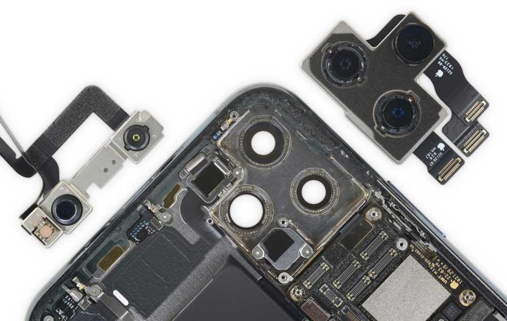 iPhone 11 Pro Max 拆解報告出爐:新型L大電池、雙主機板更小5