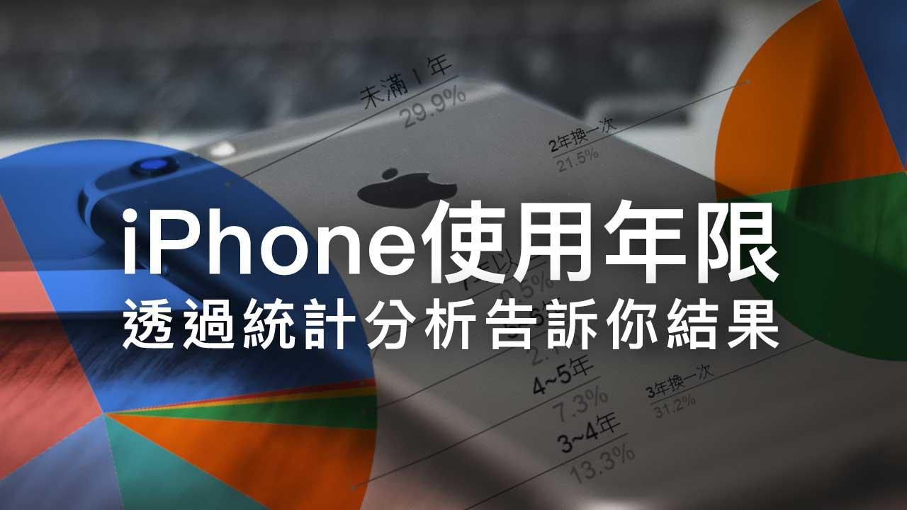 iPhone能用多久?都用哪款機型?何時會換機?瘋先生用戶統計結果出爐