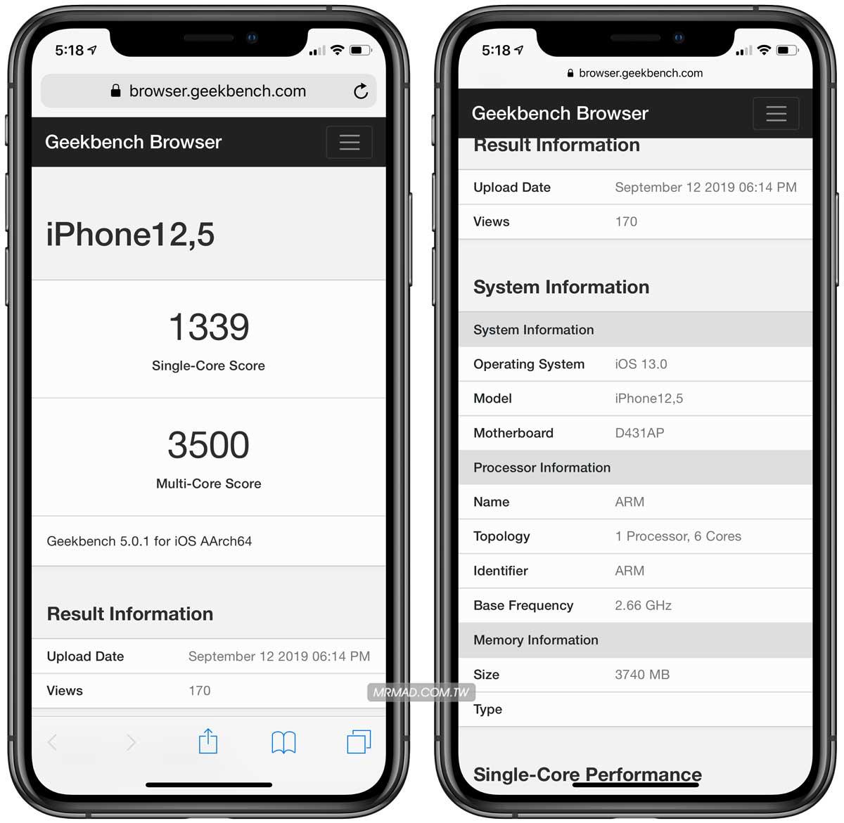 iPhone 11 Pro Max記憶體與跑分