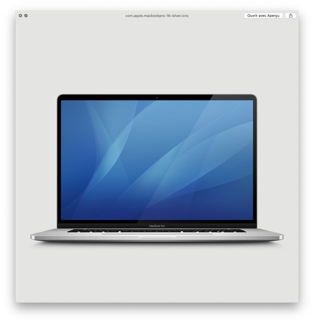 來自 macOS 10.15.1 Beta2 內曝光的MacBook Pro 16吋(銀色)圖片