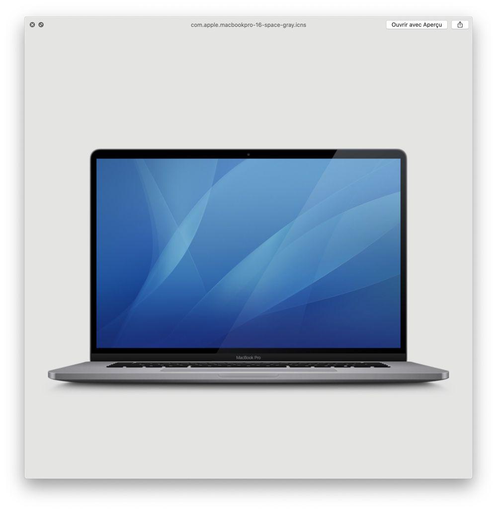 來自 macOS 10.15.1 Beta2 內曝光的MacBook Pro 16吋(太空灰)圖片