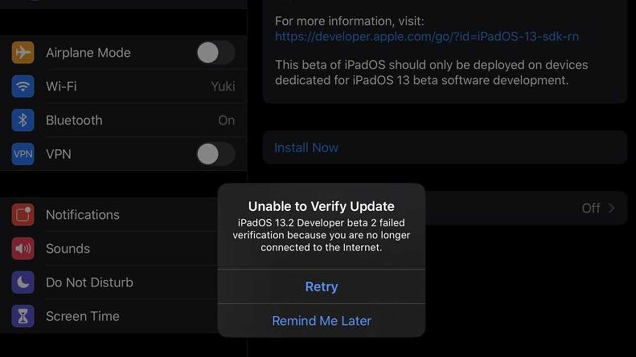 iPadOS 13.2 beta2 爆發變磚災情,蘋果立即取消OTA推送