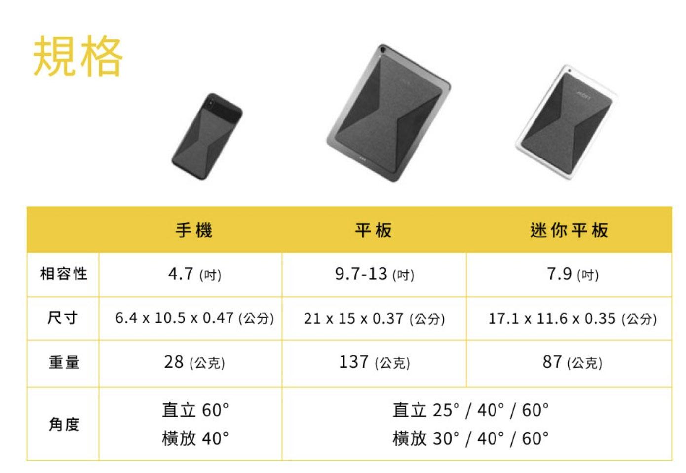 MOFT X手機、平版隱形支架開箱2