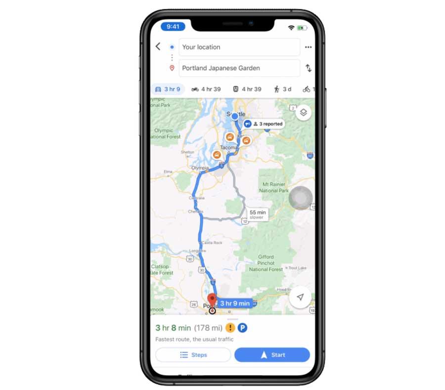 Google Map測速照相和路況回報功能教學1