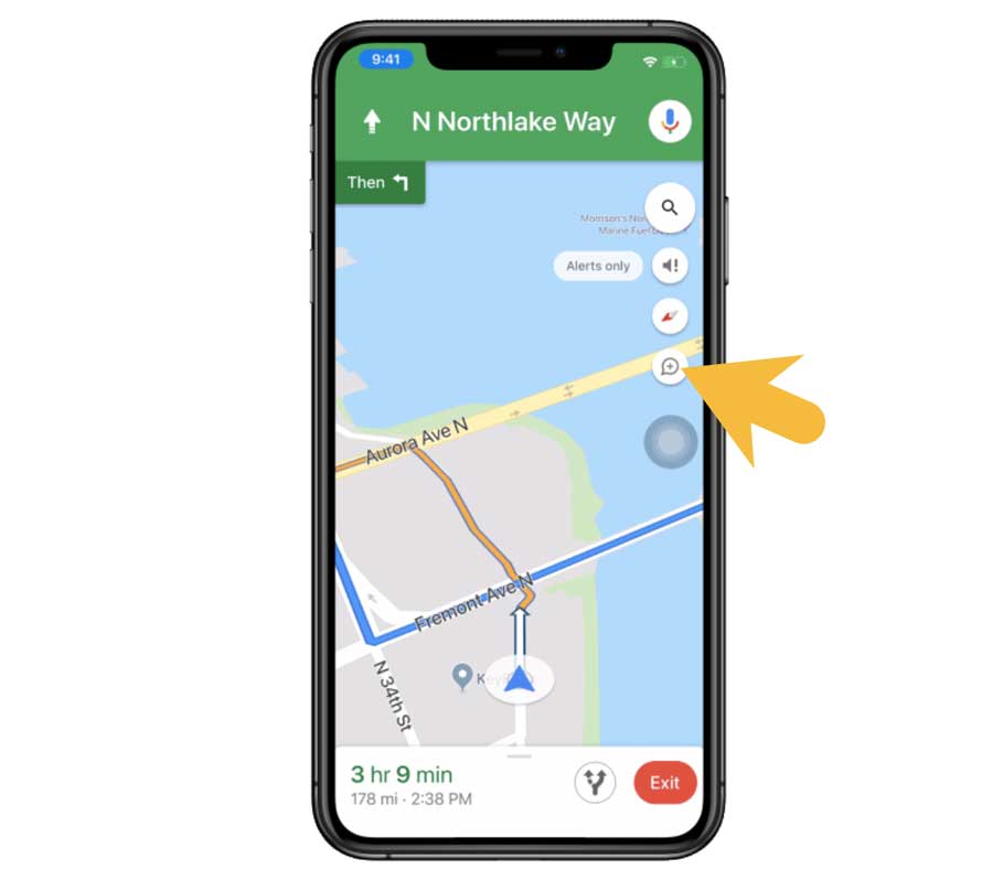 Google Map測速照相和路況回報功能教學2
