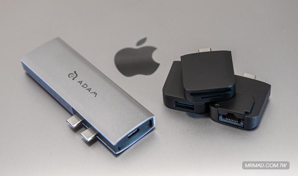 USB Type-C 擺脫傳統擴充模組化轉接器 ADAM CASA Hub 10E 開箱