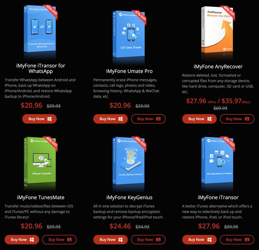 黑色星期五iMyFone特價活動:iMyFone多款軟體3折優惠出售,內含優惠碼
