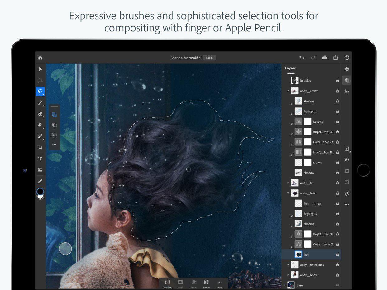 Adobe 替 iPad 開發完整版 Photoshop 已經在 App Store 上架