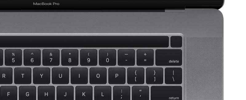 16吋MacBook Pro設計新細節 Touch Bar和Touch ID已經分離