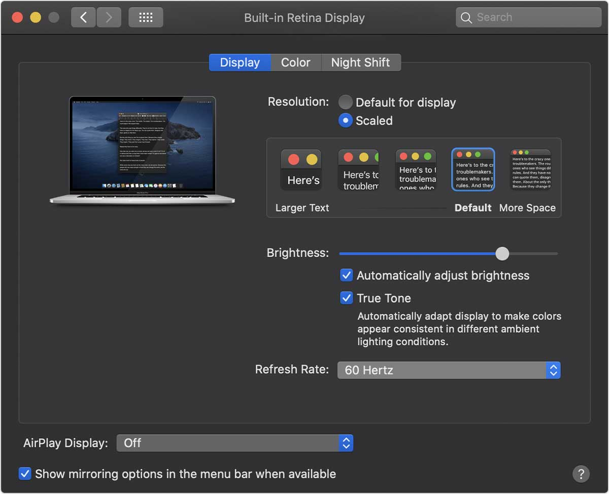 16吋MacBook Pro是首款可調螢幕刷新率筆電,教你如何調整
