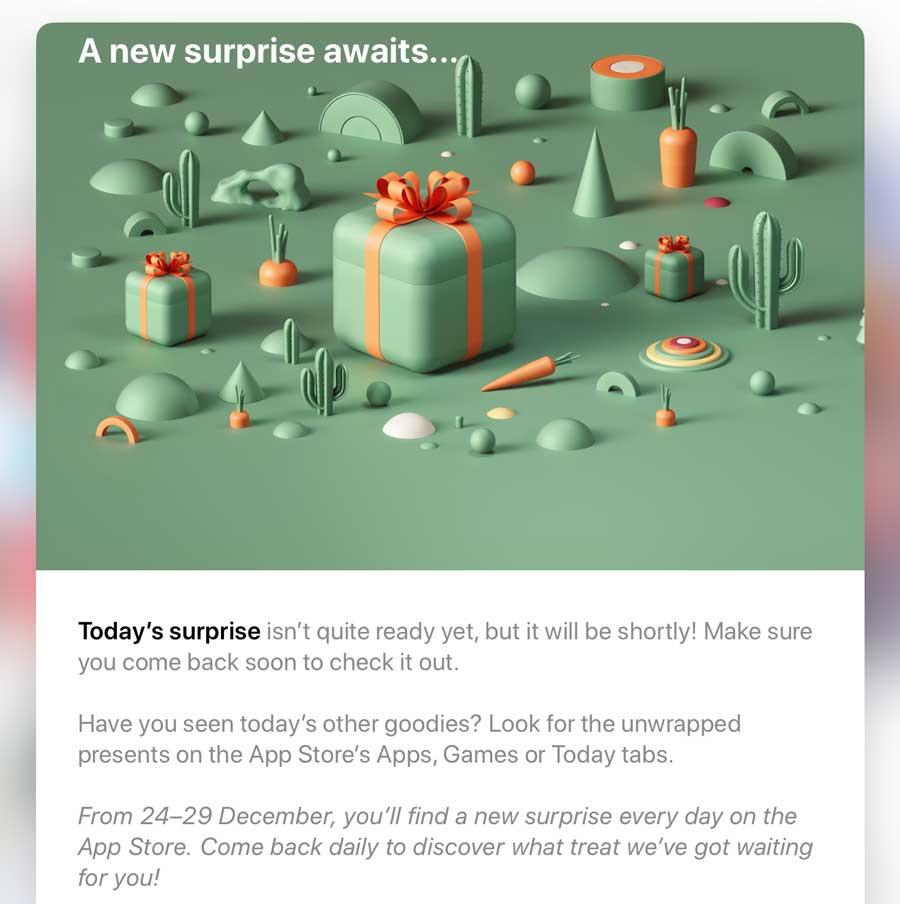 蘋果12 Days Of Gifts活動再度回歸12月24日App Store開始贈送