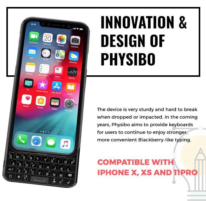 iPhone鍵盤也能改成黑莓機實體按鍵,靠Physibo殼即可實現