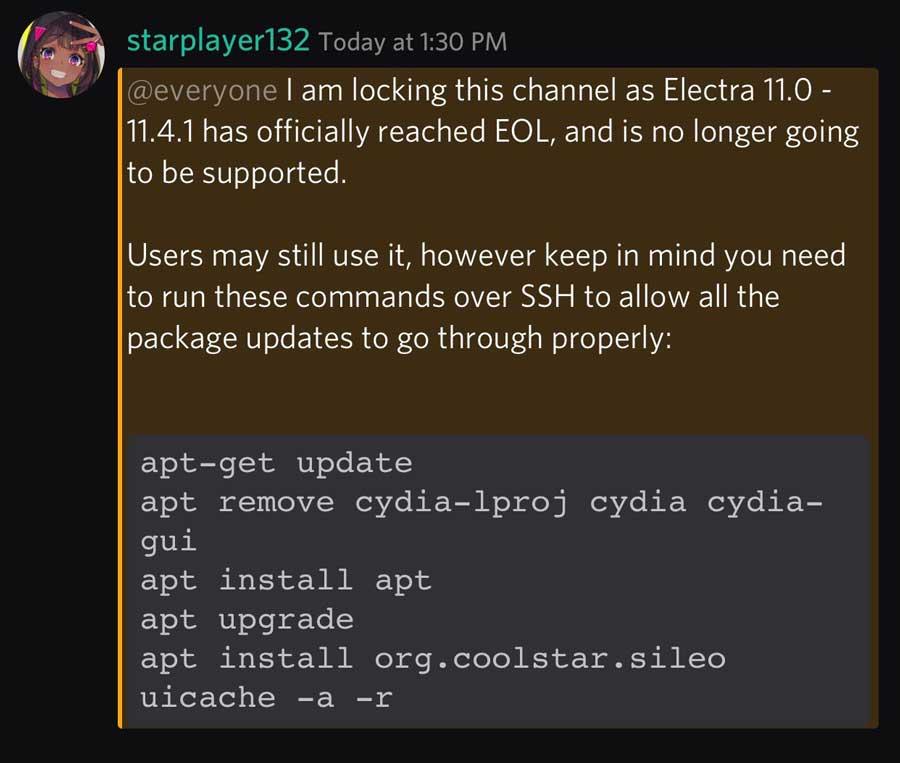 Electra團對宣布 iOS 11 越獄工具 Electra 停止更新