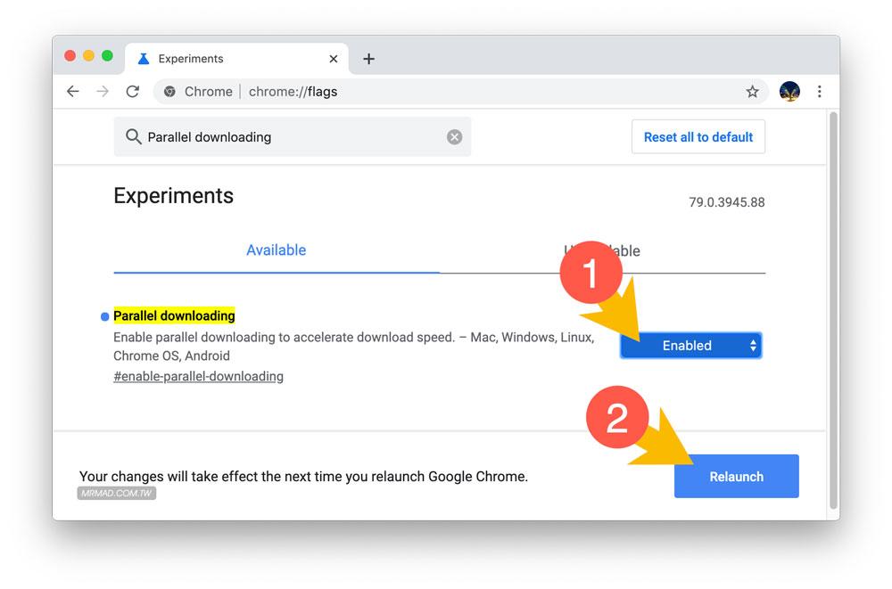 Chrome下載速度很慢?開啟隱藏功能讓Chrome下載速度翻倍2
