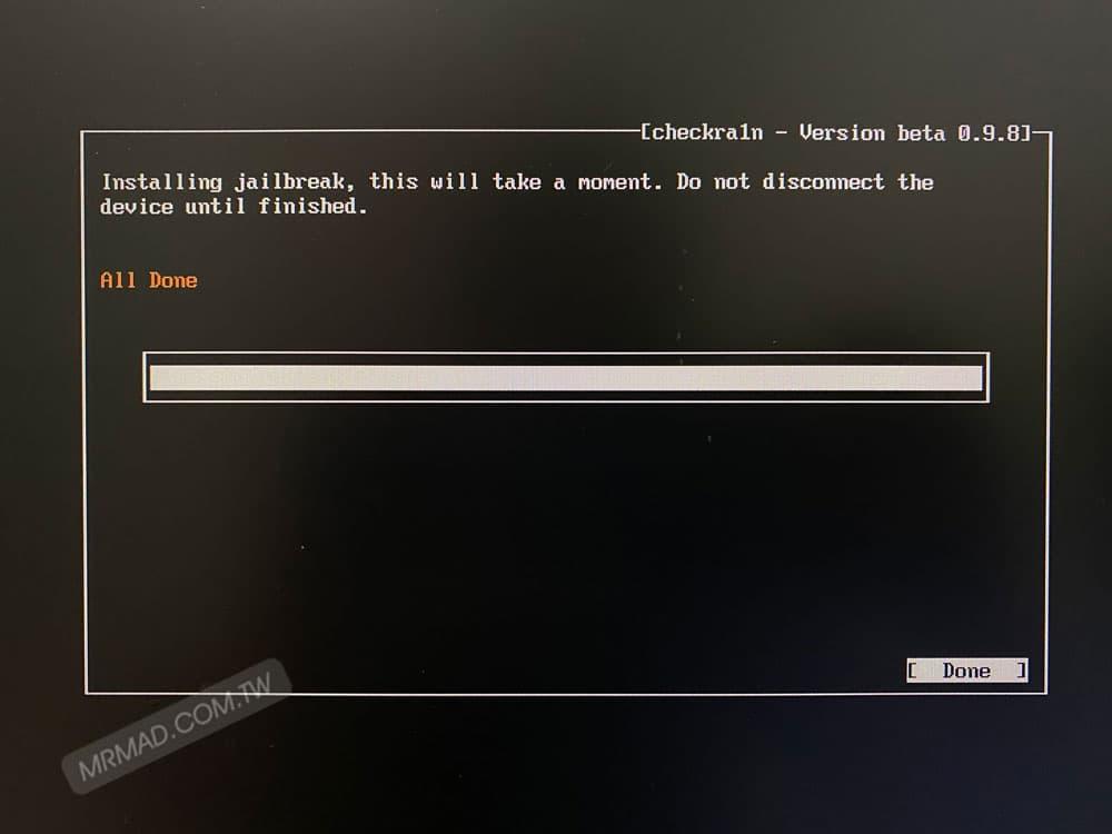 開始使用 Linux 版 checkra1n 越獄7