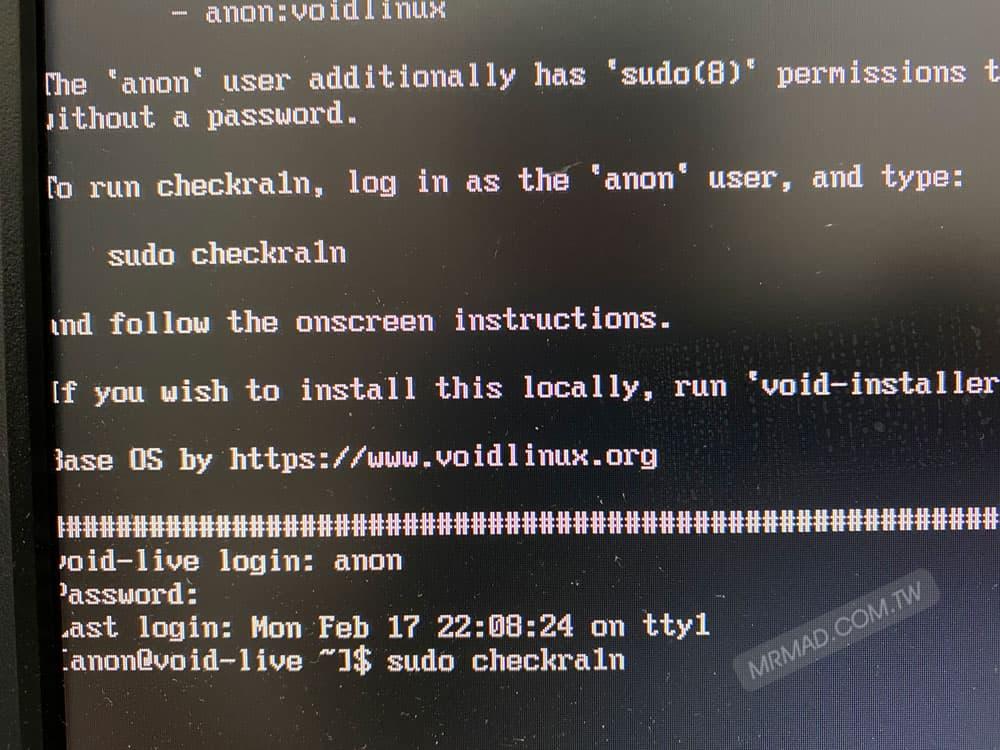 透過USB隨身碟開機與登入 Linux 系統5