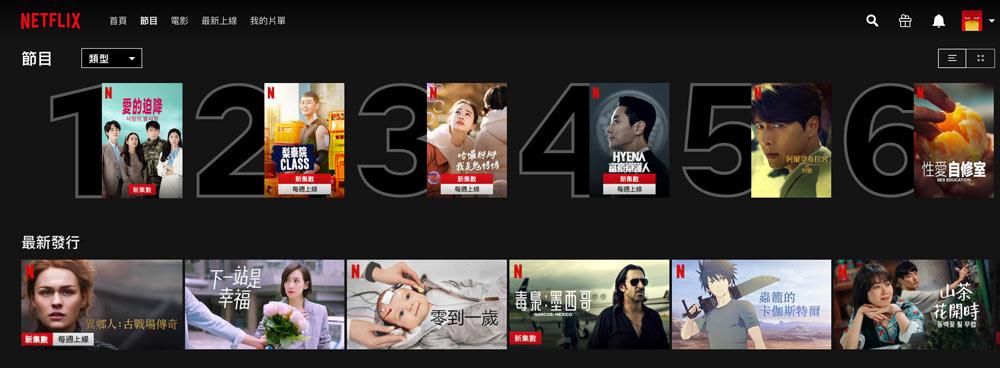 Netflix 電影、節目每日10大熱門排行快速查