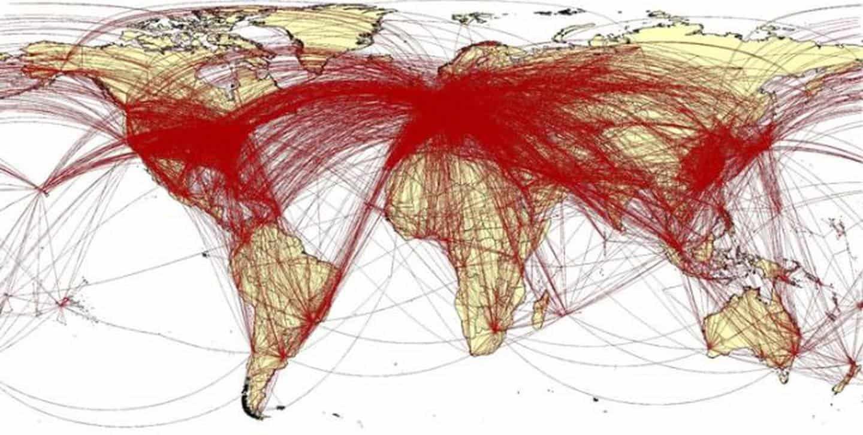 武漢大逃亡 Worldpop 分析路線圖已經散布全球 382 個城市