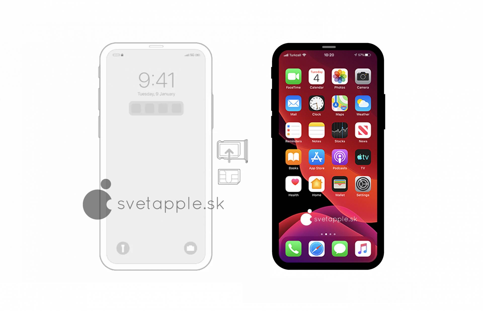 iOS 14 代碼曝光 iPhone 12 Pro 採用無瀏海設計!官方圖片證實