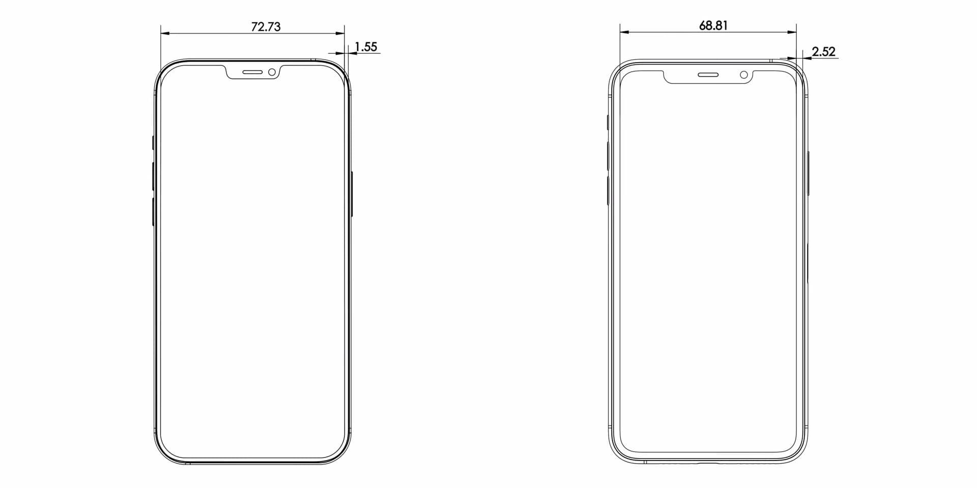 iPhone 12 體積螢幕更大、邊框黑條更細1