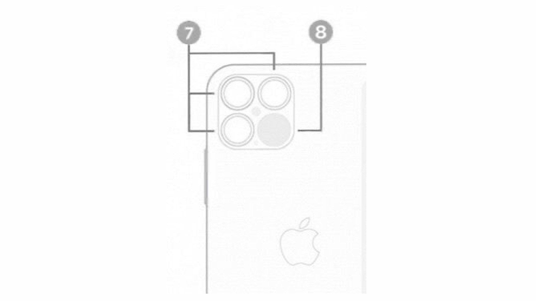 iPhone 12 Pro三鏡頭和LiDAR掃描儀設計圖,在iOS 14內被挖出1