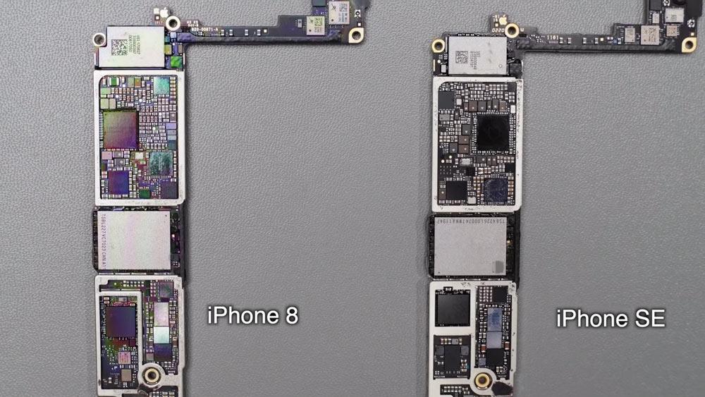 iPhone SE2拆機內部零件與 iPhone 8 通用 僅只有四處不同6