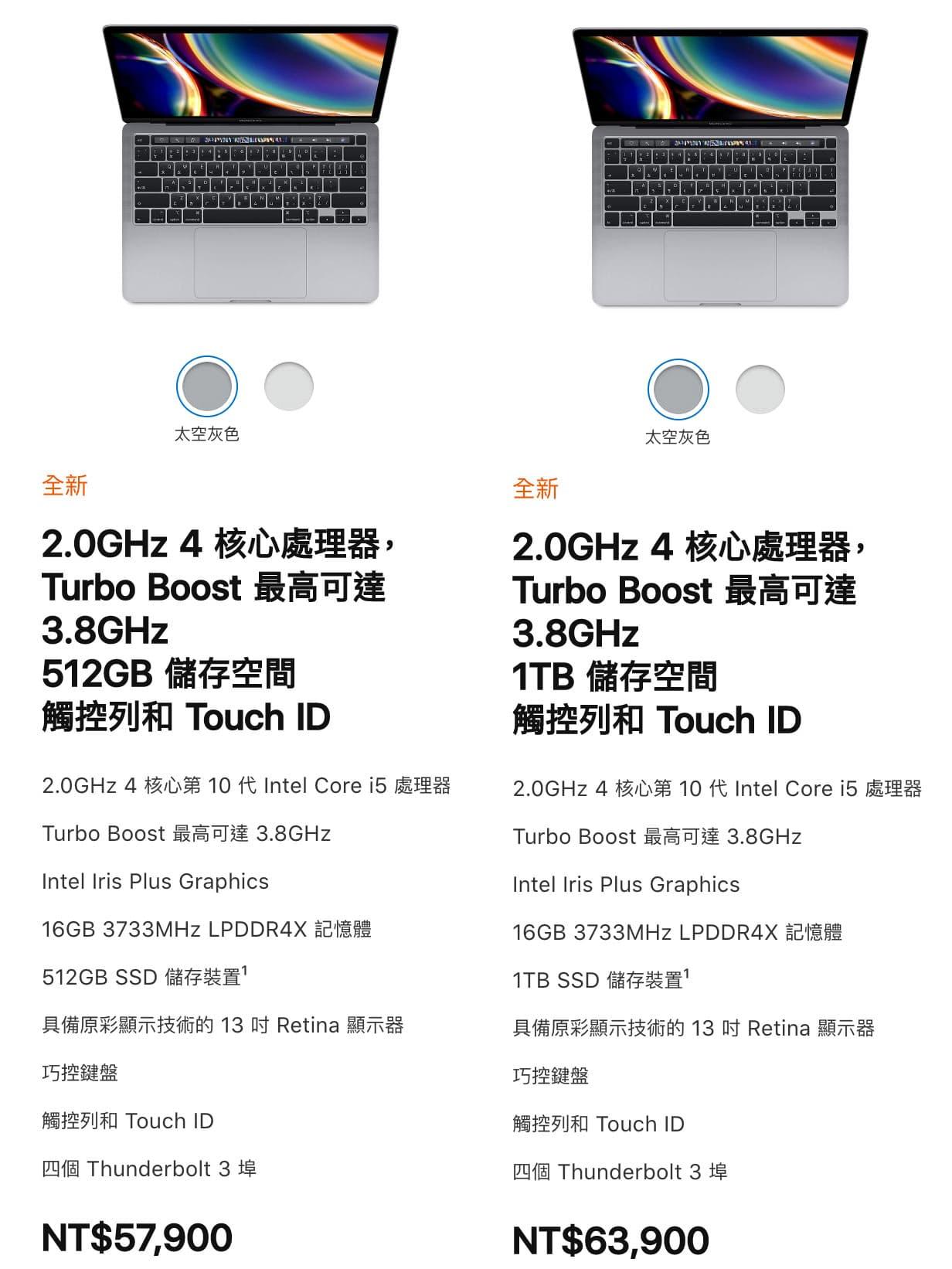 2020年13吋MacBook Pro正式推出,告訴你與前一代有哪些差異1
