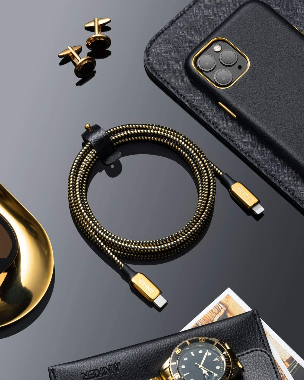 Anker 24K鍍金USB-C 轉Lightning線來了!售價100美元終身保