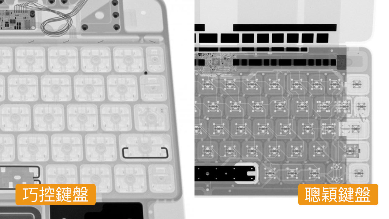 iPad Pro巧控鍵盤X光照片