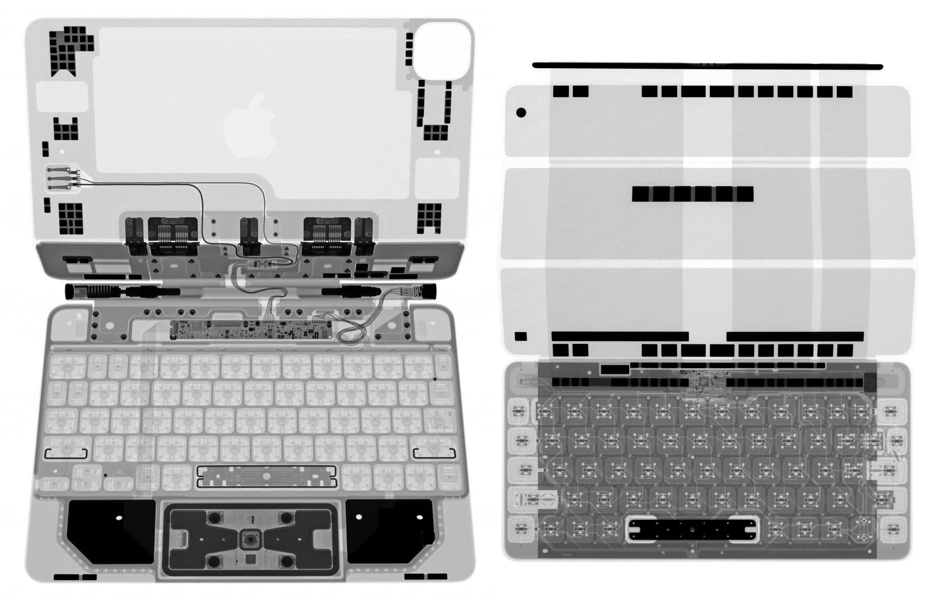 巧控鍵盤與聰穎鍵盤兩款X光照差異
