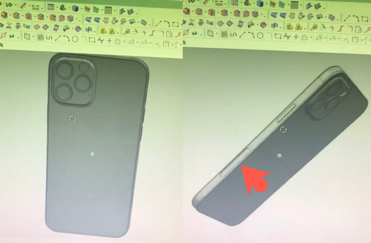 2020 年5 款iPhone 12 模具和CAD 圖曝光, 外觀採平整設計