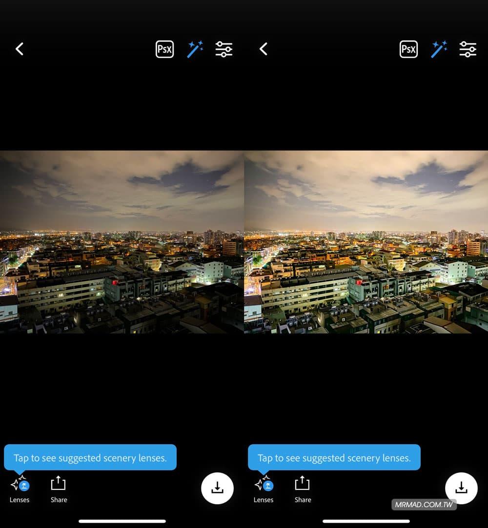 超強一鍵後製修圖、換天空工具 Photoshop Camera
