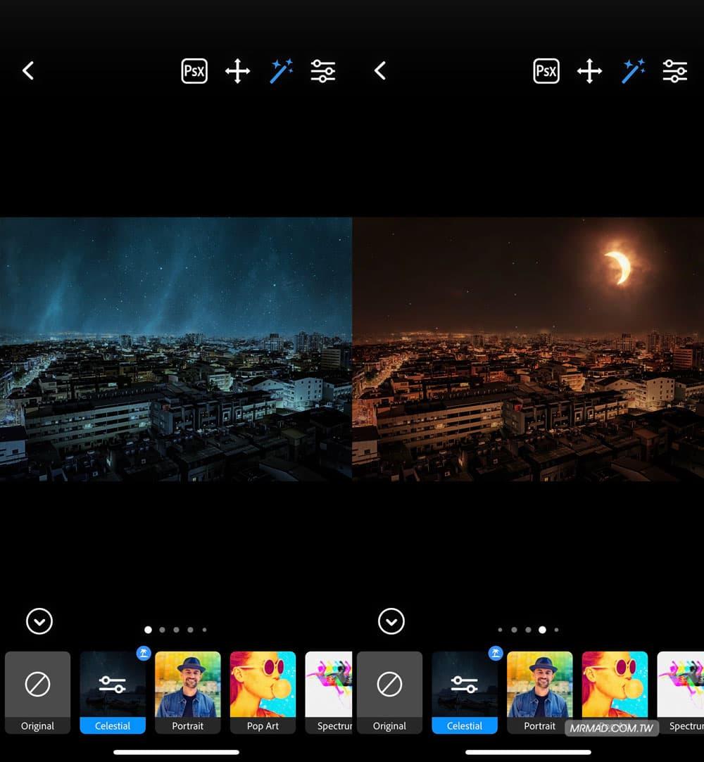星空濾鏡:黑夜變星空照片