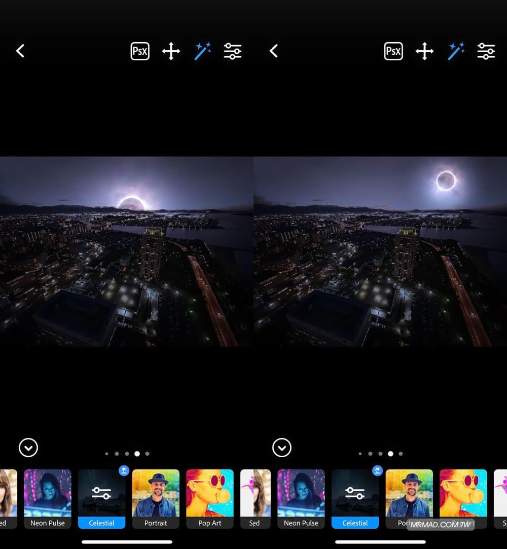星空濾鏡:黑夜變星空照片1