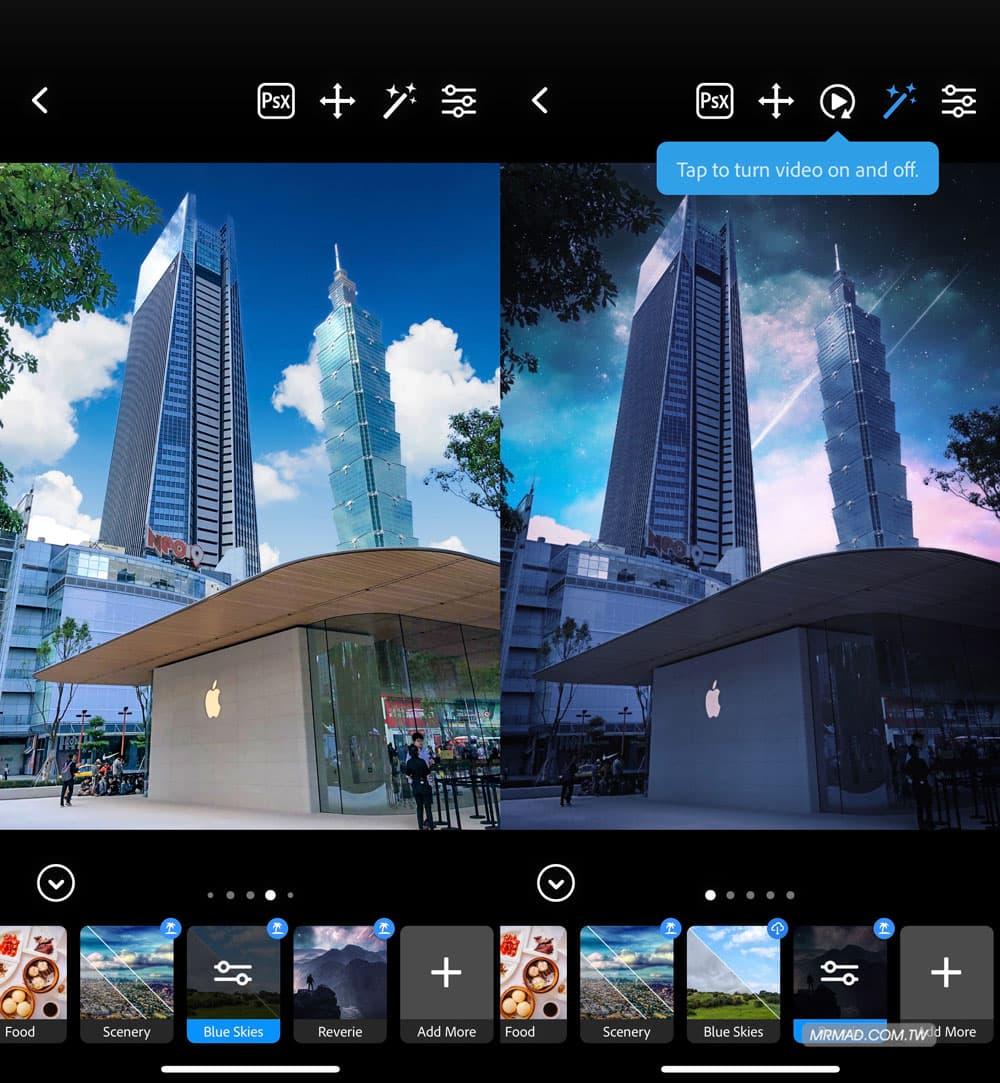 天空濾鏡:陰天變藍天白雲或夢幻天空4