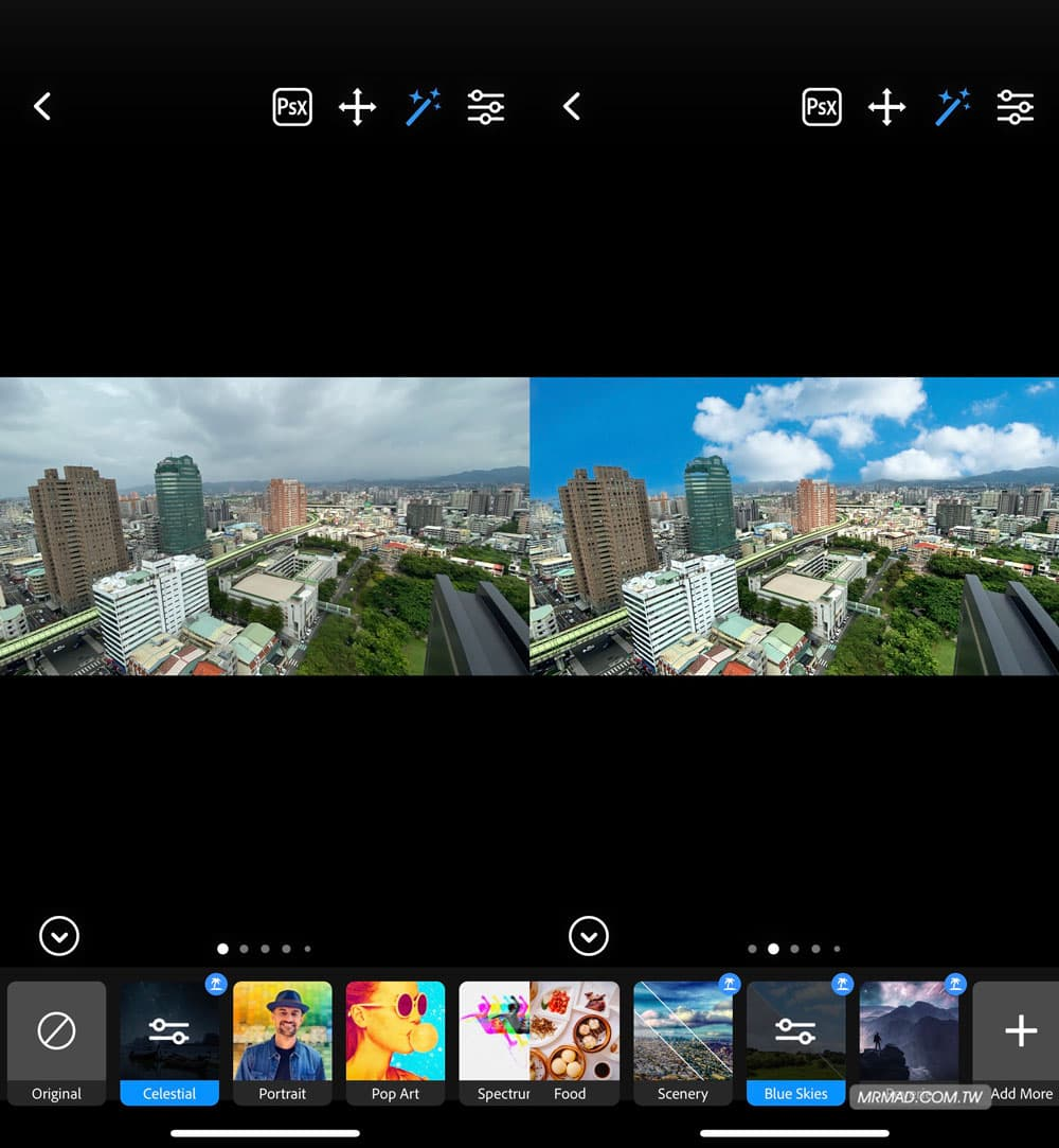 天空濾鏡:陰天變藍天白雲或夢幻天空2