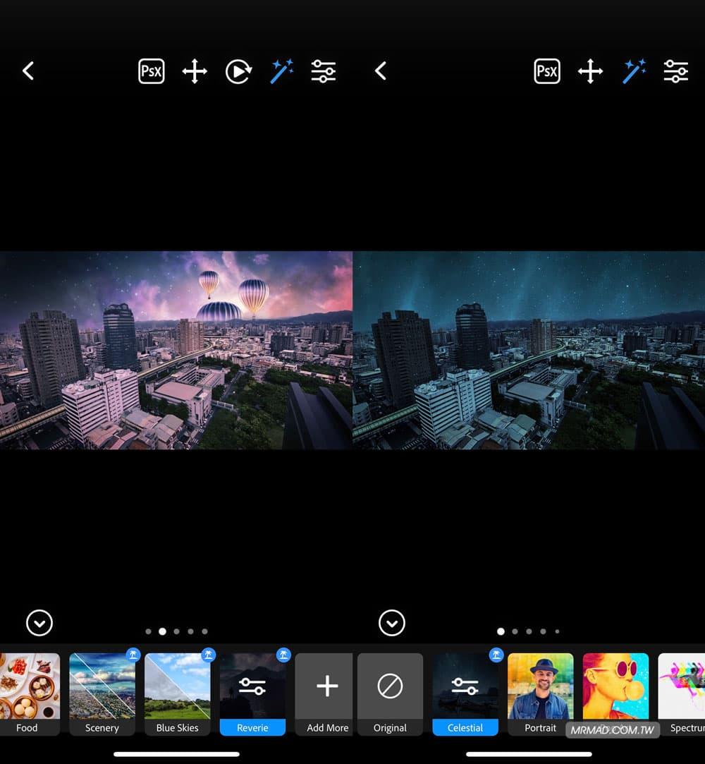 天空濾鏡:陰天變藍天白雲或夢幻天空5