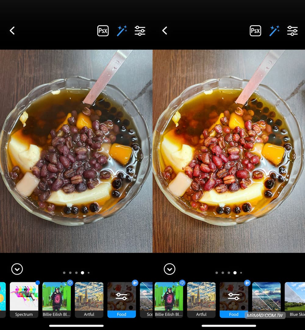 美食濾鏡:美食照片自動修立即變鮮豔
