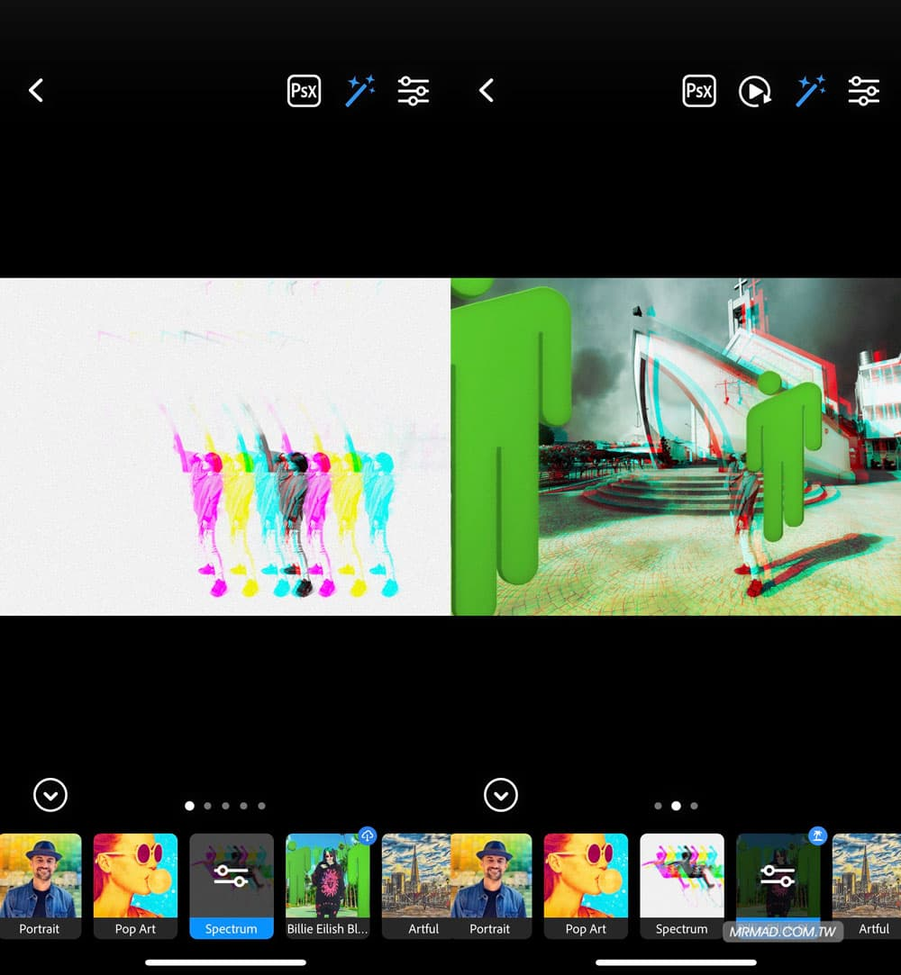 人物濾鏡:自動加入淺景深和多樣特效1